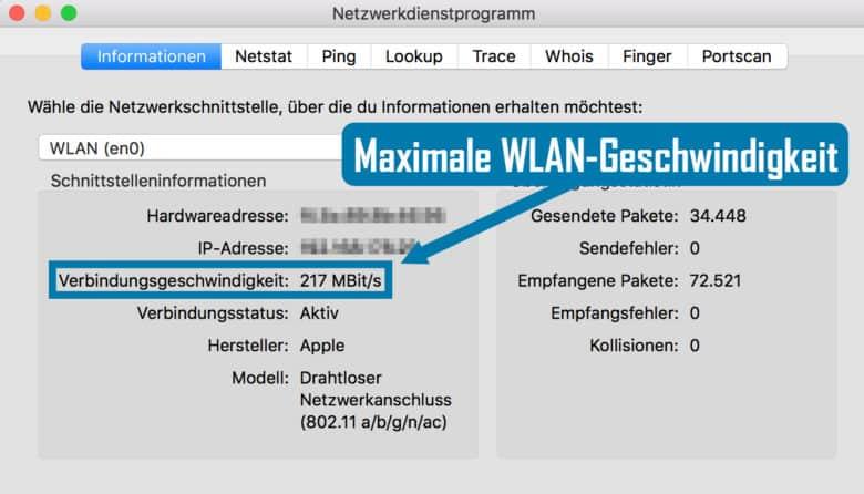 Netzwerkdienstprogramm WLAN-Geschwindigkeit