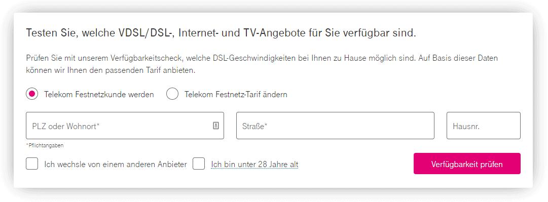Telekom Verfügbarkeit check