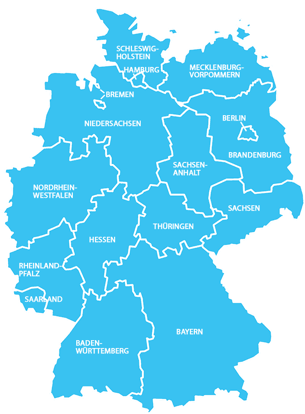 dsl karte deutschland F+U Standorte Deutschland